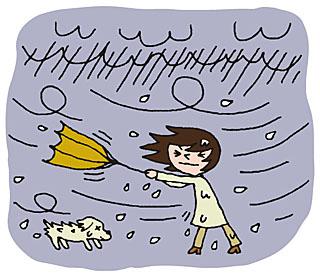 台風フリーイラスト3